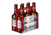 שישיית בקבוקי בירה באדוויזר 330 מ