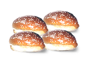 לחמניות להמבורגר 220 - 4 יח'