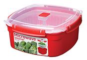 מיקרו - פלטה עגולה + מכסה לבישול / חימום ארוחה