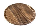 לוח סטייק עגול מעץ 24 ס